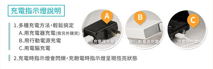 USB充電雙磁鐵工作燈多種充電方法