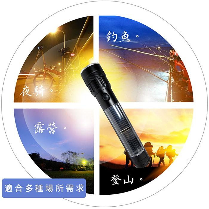 GREENON【太陽能充電手電筒】體積小巧、重量輕、便於攜帶