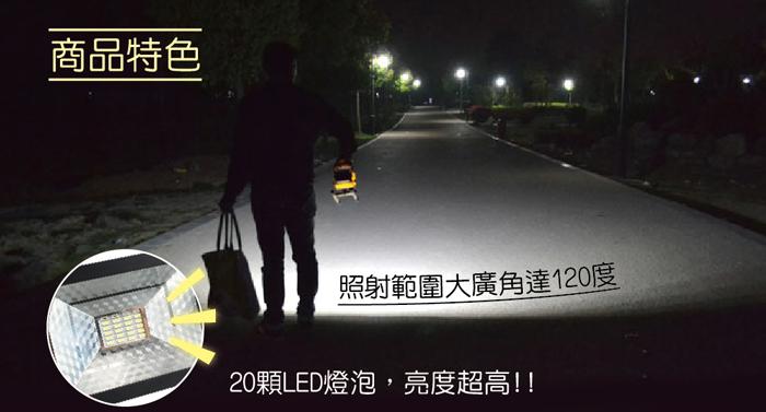 120度大廣角LED戶外探照燈,高亮度照射範圍廣大