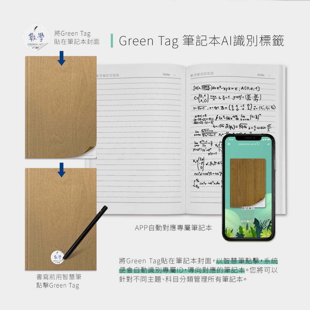 Green Tag 筆記本AI識別標籤 獨家設計