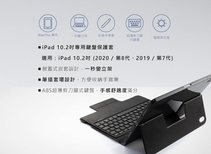 GREENON 鍵盤保護套F8S 筆插皮套版 產品特色