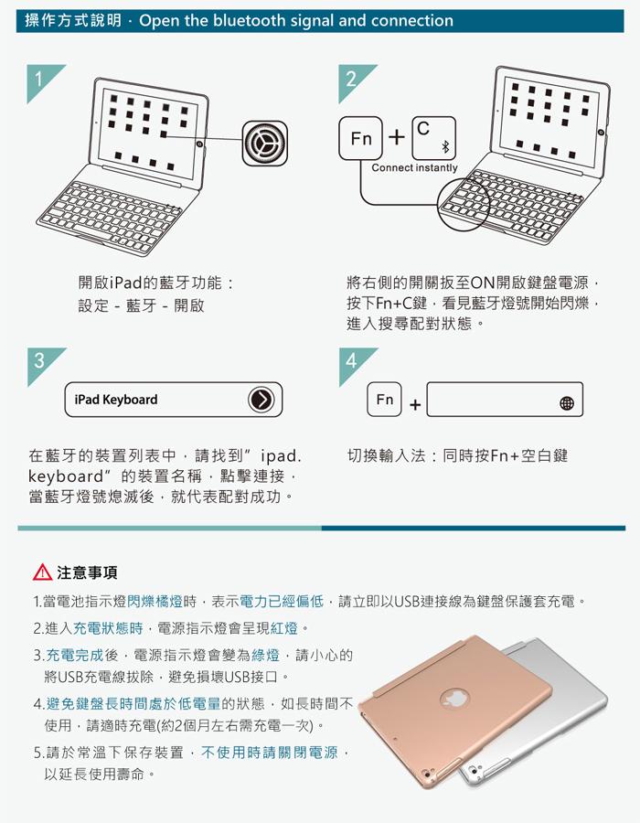 GREENON 鍵盤保護套F8S 背蓋可拆式 操作說明 注意事項