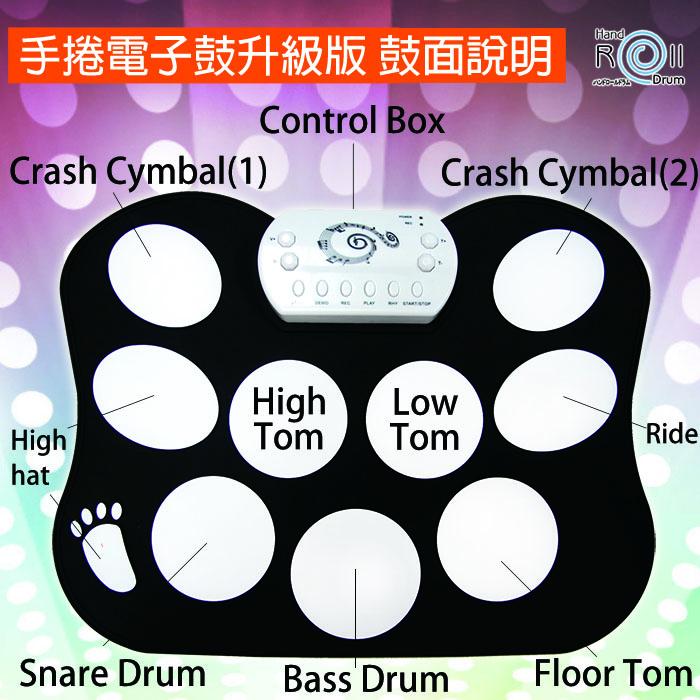 手捲電子鼓升級版鼓面配置說明